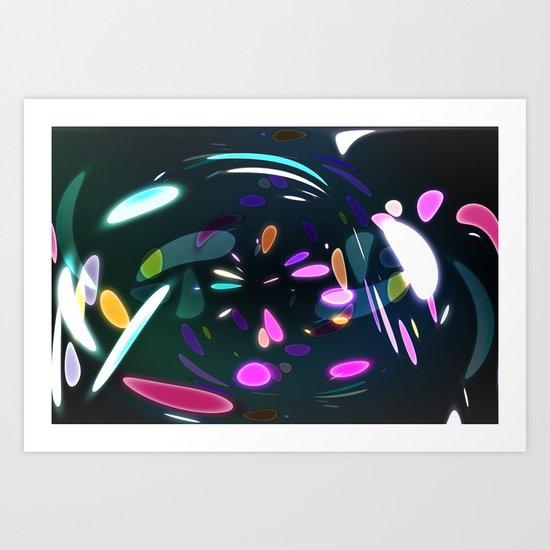 Vibrant shards Art Print