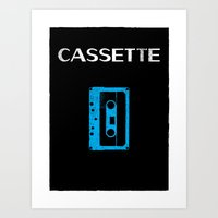 cassette Art Prints featuring Cassette by Bruce Young