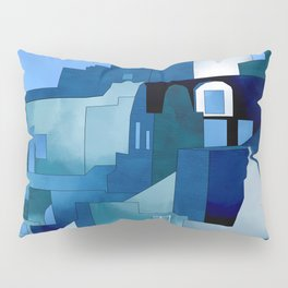 greece santorini abstract illustration Pillow Sham