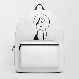 Red lips girl Backpack