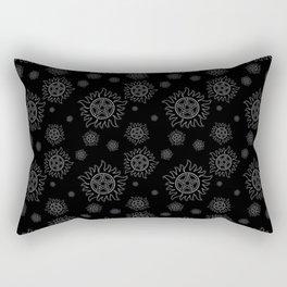 Anti Possession Pattern White Glow Rectangular Pillow