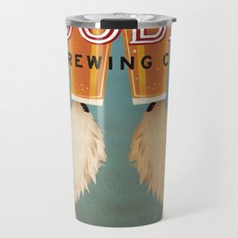 Goldendoodle Labradoodle Doodle Brewing Co. Beer Sign Travel Mug