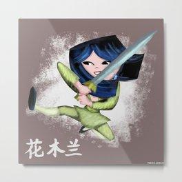 Mulan 2 Metal Print