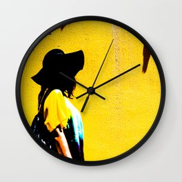 The Hat Of A Woman Wall Clock