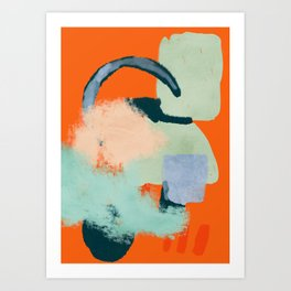 At home abstraction in orange Art Print