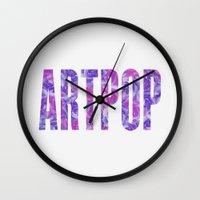 artpop Wall Clocks featuring ARTPOP by Philippa K