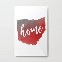 Ohio Map State Watercolor Home Print Metal Print