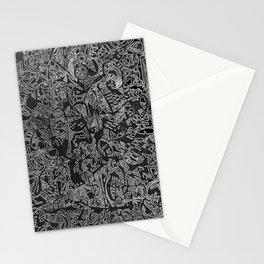 White/Black #3 Stationery Cards