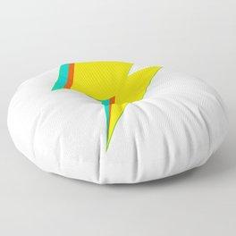 Lightning bolt (yellow Version) Floor Pillow