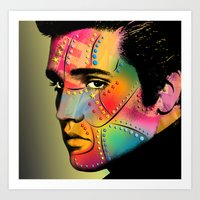 elvis presley Art Prints featuring Elvis Presley by mark ashkenazi