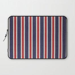 De rayas azules y rojas Laptop Sleeve