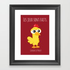 Gougoul the Chicken Framed Art Print
