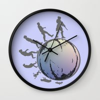 arsenal Wall Clocks featuring Space Evolution  by Astrablink7