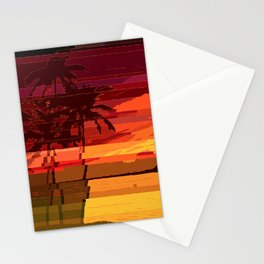 Tropical Glitchset Stationery Cards