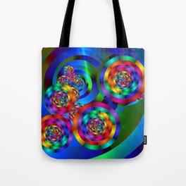 Rainbow Rings Tote Bag