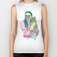 horror Biker Tanks featuring Lsd  horror party by DIVIDUS