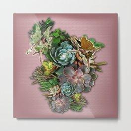 Succulent gardens Metal Print