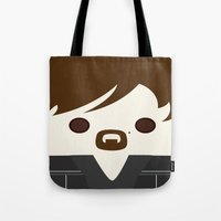 daryl Tote Bags featuring Daryl by heartfeltdesigns by Telahmarie