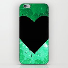Elegant watercolor splash heart iPhone Skin