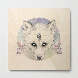 Mystic Fox Metal Print