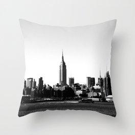 Empire State Building Skyline, New York City Throw Pillow