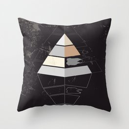 Pyramid symbol Throw Pillow