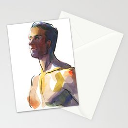 BRYAN, Semi-Nude Male by Frank-Joseph Stationery Cards