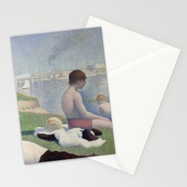 Georges Seurat - Bathers at Asnieres Stationery Cards