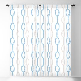 Hand-drawn Chain Pattern Blackout Curtain