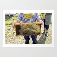 Beekeeping for Beginners Art Print