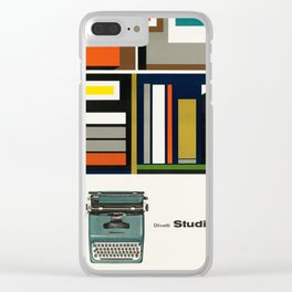 Olivetti Studio 44 - Vintage Poster Clear iPhone Case