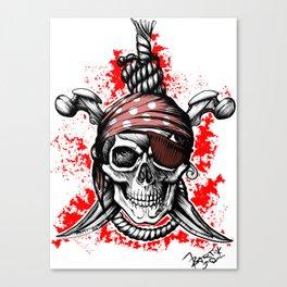 *** Ltd Edition: skull t-shirt Canvas Print