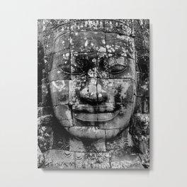 Cambodia. Angor Wat. Faces of Lokesvara Metal Print