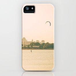 Windsurfing in Boston Harbor iPhone Case