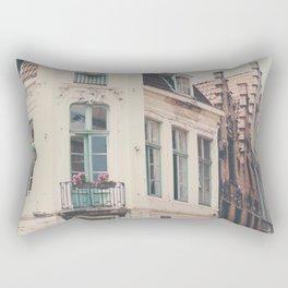Bruges apartment building print  Rectangular Pillow