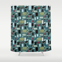 wallet Shower Curtains featuring In Your Bag by S. Vaeth