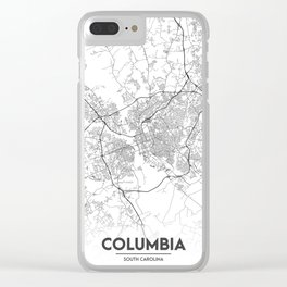 Minimal City Maps - Map Of Columbia, South Carolina, United States Clear iPhone Case