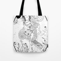 seahorse Tote Bags featuring Seahorse by Amy Consolo