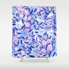 Nonchalant Blue Shower Curtain