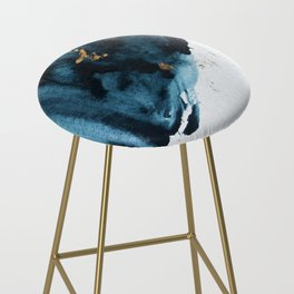 Sapphire and Gold Abstract Bar Stool