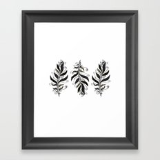 TRIBAL FEATHERS Framed Art Print