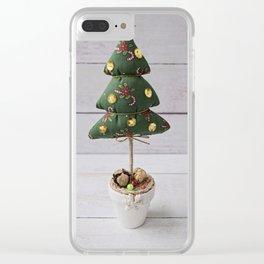 Handmade craft Christmas Tree Clear iPhone Case