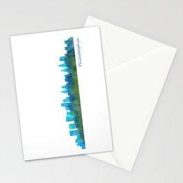 Philadelphia City Skyline Hq V1a Stationery Cards