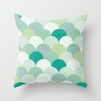 scales Throw Pillows featuring SCALES by Sarah Stark