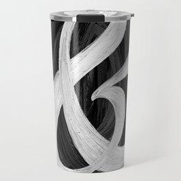Thick Swirl Ampersand Black & White Travel Mug