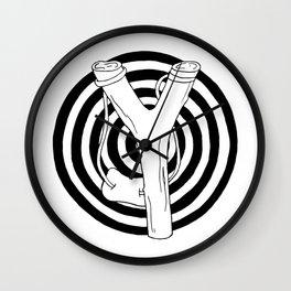 target and slingshot Wall Clock