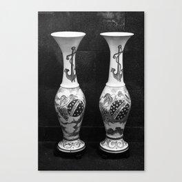 Vintage pottery vases Canvas Print