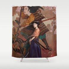 The Spirit of Tomoe Gozen Shower Curtain