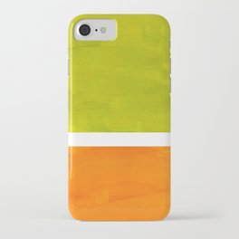 Retro Lime Green Minimalist Abstract Color Block Rothko Midcentury Modern Art iPhone Case