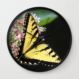 Butterfly Flower Wall Clock